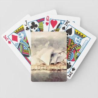 Sydney Opera House Bicycle Poker Cards