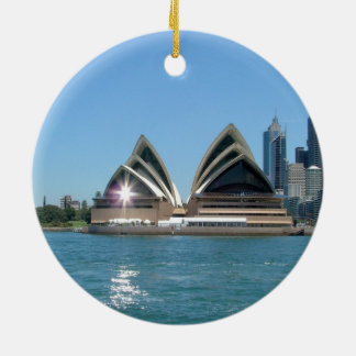 Sydney Opera House Round Ceramic Decoration