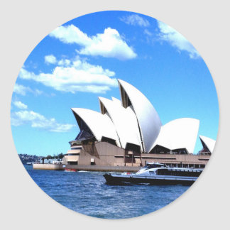 sydney Opera house Round Sticker