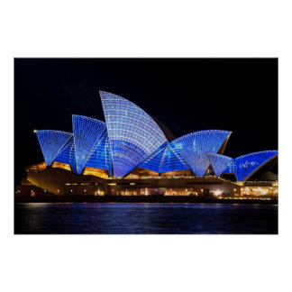 Sydney opera house vivid light show poster