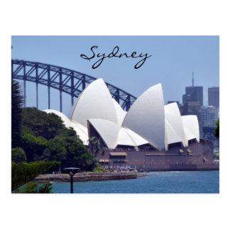sydney opera view postcard