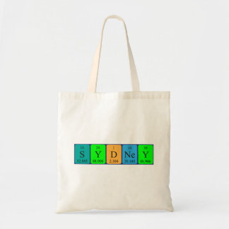 Sydney periodic table name tote bag
