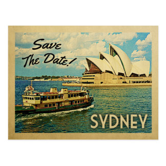 Sydney Save The Date Australia Postcard
