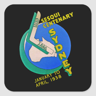 Sydney Sesqui Centenary Square Sticker
