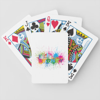 Sydney Skyline Abstract Color Illustration Bicycle Playing Cards