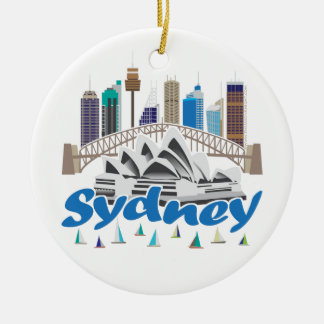 Sydney Skyline Ceramic Ornament
