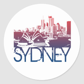 Sydney Skyline Design Classic Round Sticker