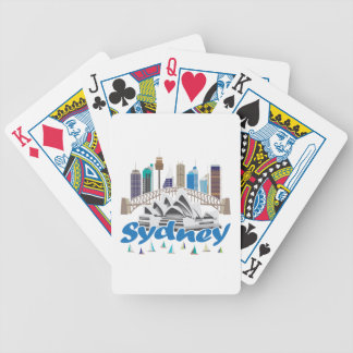 Sydney Skyline Bicycle Poker Deck