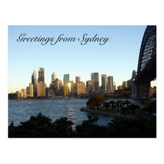 sydney skyline post card