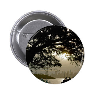 Sydney Skyline scenic view 6 Cm Round Badge