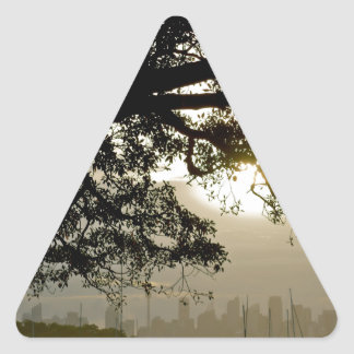 Sydney Skyline scenic view Triangle Sticker