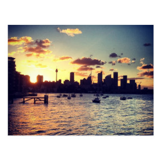 Sydney Sunset Postcard