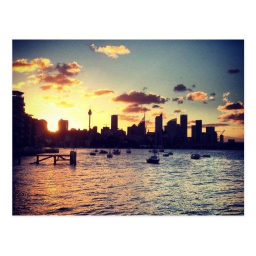 Sydney Sunset Postcard