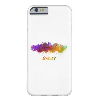 Sydney v2 skyline in watercolor barely there iPhone 6 case