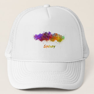 Sydney v2 skyline in watercolor trucker hat