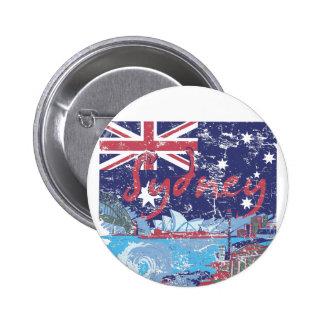 sydney vintage australia 6 cm round badge