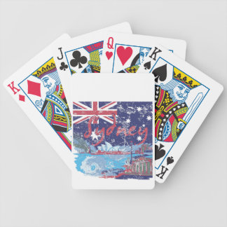 sydney vintage australia bicycle playing cards