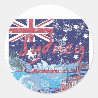 sydney vintage australia classic round sticker