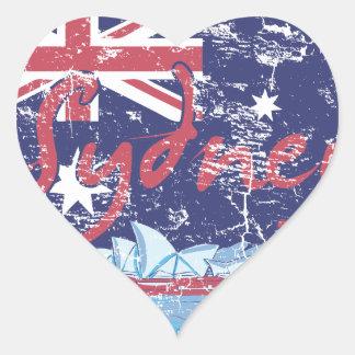 sydney vintage australia heart sticker
