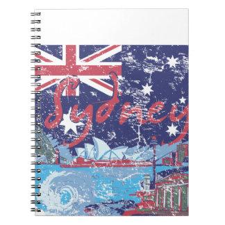 sydney vintage australia notebook