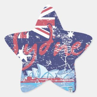 sydney vintage australia star sticker