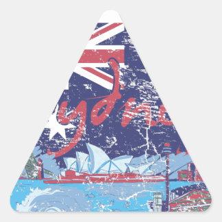 sydney vintage australia triangle sticker