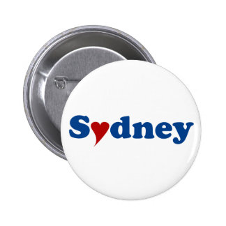 Sydney with Heart 6 Cm Round Badge