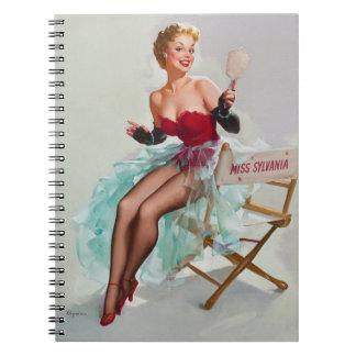 Sylvania calendar blonde pinup girl notebooks