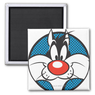 SYLVESTER™ Dotty Icon Square Magnet