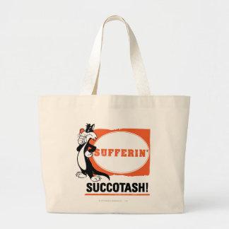 SYLVESTER™ Sufferin' Succotash! Large Tote Bag