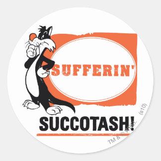 SYLVESTER™ Sufferin' Succotash! Round Sticker