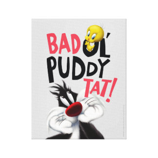 SYLVESTER™ & TWEETY™- Mean Ol' Puddy Tat Canvas Print