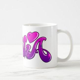 SYLVIA Graffiti Name - Classic White Coffee Mug