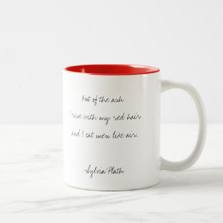 "Sylvia Plath, ""Lady Lazarus"" Handwritten Quote Mug"