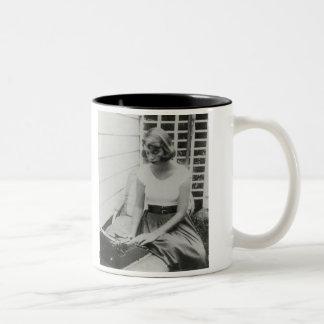 Sylvia Plath Typewriter Two-Tone Mug
