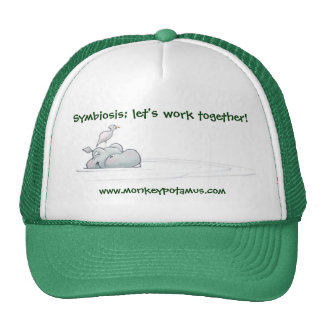 Symbiosis let s work together mesh hats