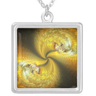 Symbiosis Square Pendant Necklace