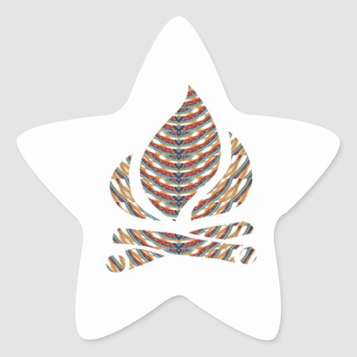 SYMBOL ART: Fire FLAME Energy Action LOWPRICE STOR Star Sticker