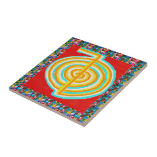 SYMBOL ART : GEM PEARL JEWEL STUDDED SHOW CERAMIC TILE