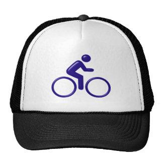 Symbol cyclist bicyclist trucker hats