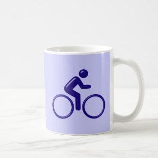 Symbol cyclist bicyclist mug
