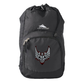 Symbol for gym and fitness backpack