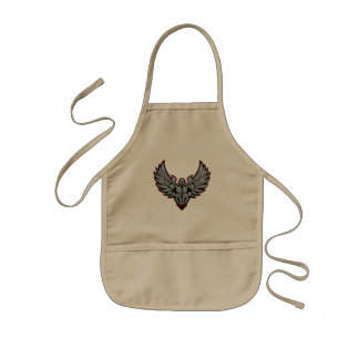 Symbol for gym and fitness kids apron
