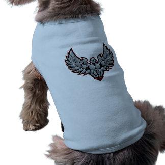 Symbol for gym and fitness sleeveless dog shirt