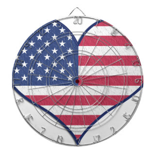 Symbol Heart Love Usa United States Flag Stars Dartboard