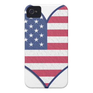 Symbol Heart Love Usa United States Flag Stars iPhone 4 Cover