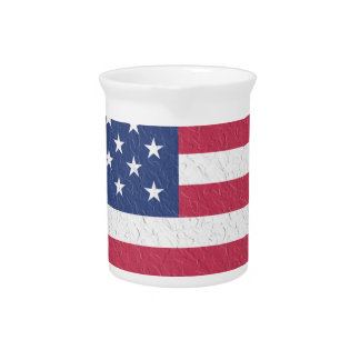 Symbol Heart Love Usa United States Flag Stars Pitcher