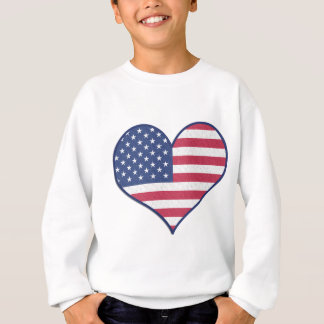 Symbol Heart Love Usa United States Flag Stars Sweatshirt
