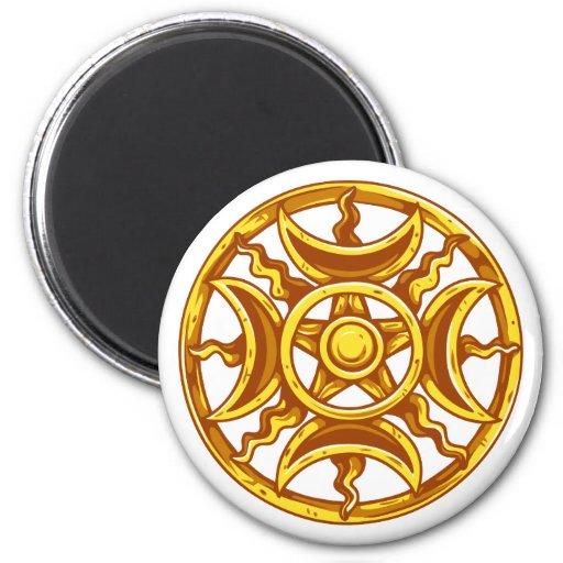 Symbol magic magic refrigerator magnets