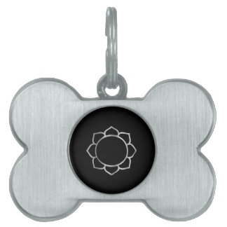 Symbol of Buddhism- Lotus flower Pet ID Tag